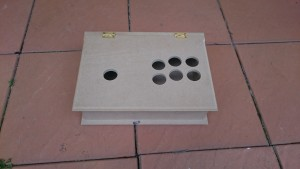 Wooden box Drilled